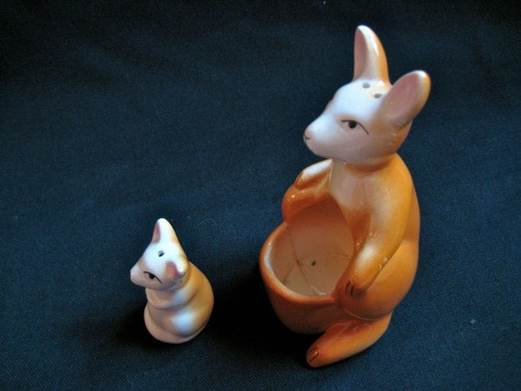 Me and You Kangaroo Salt and Pepper Shaker Set