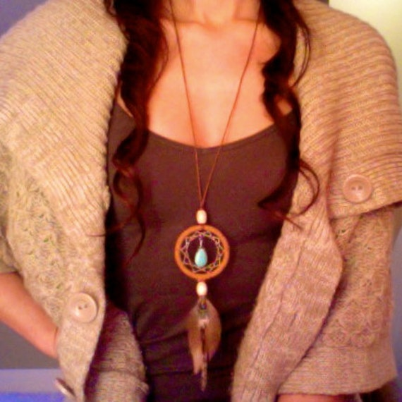 Just Around the Riverbend Dreamcatcher Necklace