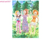 Dancing with My Sisters Greeting Card