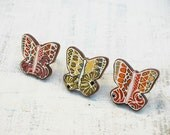 Butterfly Ring Butterfly Jewelry Hand Painted on Wood Animal Ring
