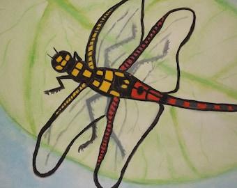 Prehistoric Dragonfly - Print