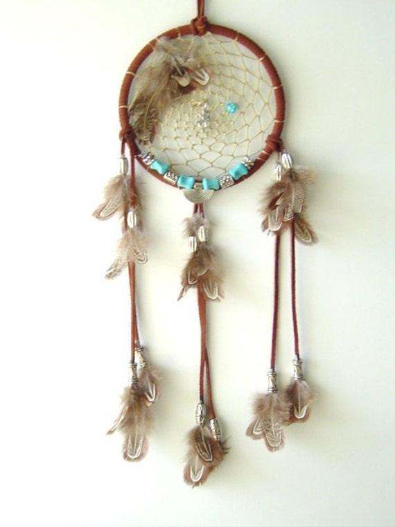 Lizard Waters 5-inch Native American Inspired DreamCatcher Home decor, dorm room decor