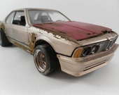 1980s BMW 635i 1/24 scale model car in tan