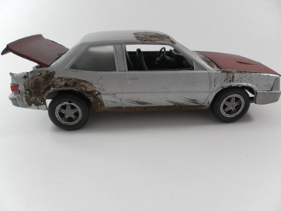 Classicwrecks 1984 Chevrolet Citation Rusted Wrecked and Junked 1/24 scale model car in silver and brown