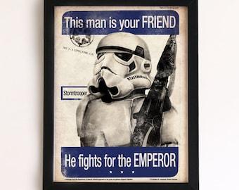 Stormtrooper - Imperial Propaganda Print