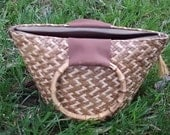 NOW 19.00 -  Mini Hawaiian Tiki Bucket Clutch Purse Mint