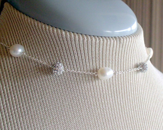 Pearls and Bling Choker