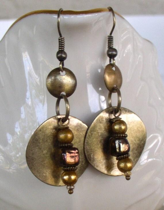 Brass Metal Earrings
