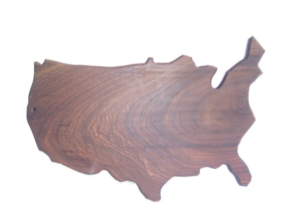 United States cutting board - made of walnut