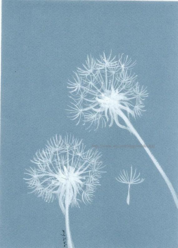 """Dandelion--ORIGINAL Watercolor painting 9""""x6.5"""""""