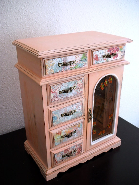Sweet Peach Wooden jewelry box