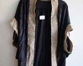 Vintage Leopard Print Silk Batwing Lingerie Cover-Up // by UndercoverWear