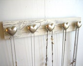 Jewelry Rack with Silver Hearts