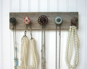 Jewelry Display / Necklace Holder with Red Valve Handle