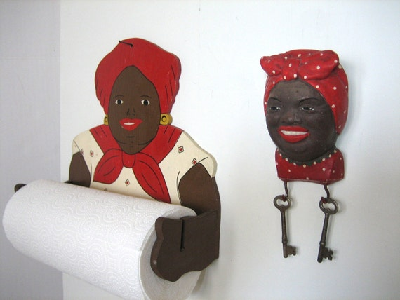 Aunt Jemima Paper Towel Holder And Key Holder