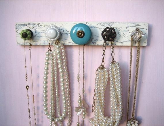 Necklace Display with Large Aqua Knob