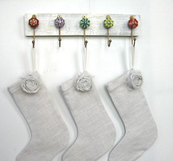 Wall hooks stocking holder key ring with ceramic
