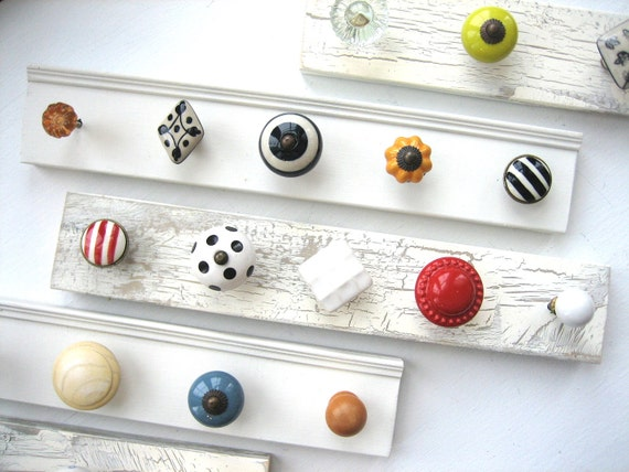 Customized Jewelry Rack--Design Your Own 5 Knob Rack