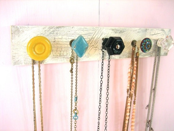 Jewelry Storage and Organization / Necklace Organizer in Summer Colors