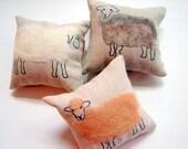 Children's Little Pillows - Fuzzy Sheep - Set of Three