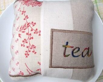 Little Tea Pillow - plump and stuffed
