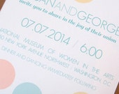 Springtime Confetti Wedding Party Event Invitation - Set of 25