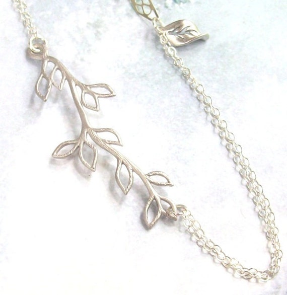 Tree branch anklet silver anklet plus size bracelet for Plus size jewelry bracelets