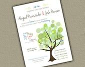 Wedding Invitation, Bridal Shower Invitation - Trees, birds Printed or Digital DIY