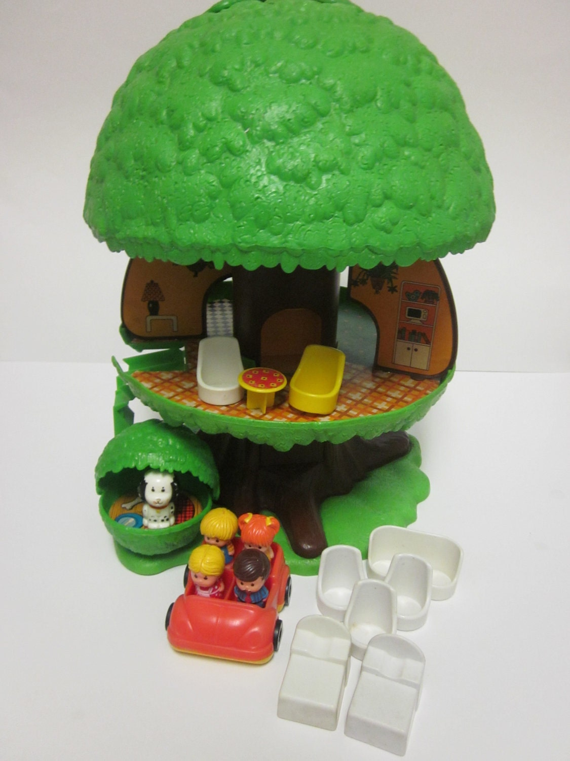 SALE Vintage Kenner Tree Tots Family Treehouse with