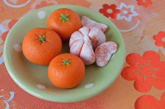 "Miniature tangerines for American Girl dolls or other 18"" dolls"