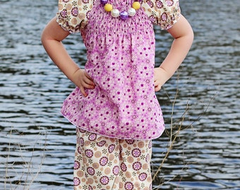 Matilda's Shirred Peasant Dress and Top PDF Pattern TWEEN sizes 7/8 to size 15/16