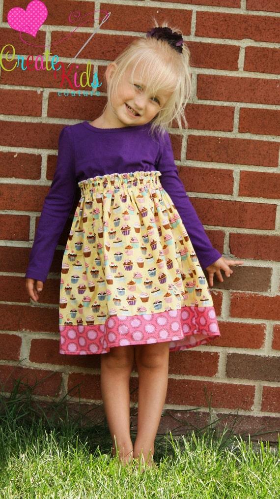 Tasha's T-Shirt Dress 2 Ways PDF Pattern size 18 months to size 6