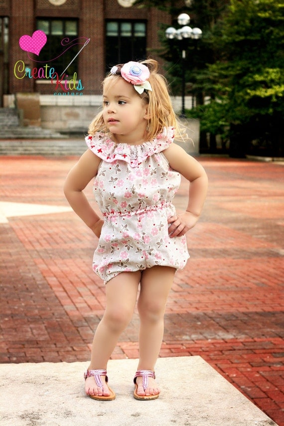 Whitney S Ruffle Neck Romper Pdf Pattern Size By