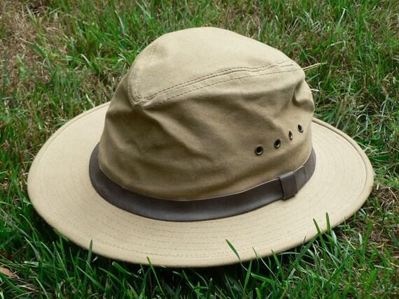 Vintage Filson Tin Cloth Packer Hat Size Med