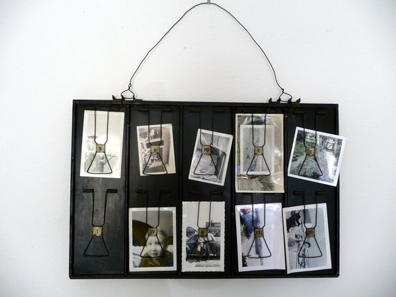 Vintage Photo Holder Receipt Holder// Industrial Decor// Sales Ticket Clip Holder McCuskey Register Company