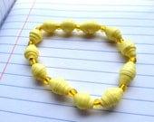 Yellow Paper Beaded Bracelet By simplybemine