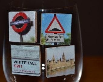 Scenic London Magnetic Wine Charm Set
