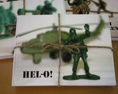 Hel-o Military Men Note Card Set of 8