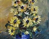 SUNFLOWERS    IV  -- Original Acrylic Painting by TERESA