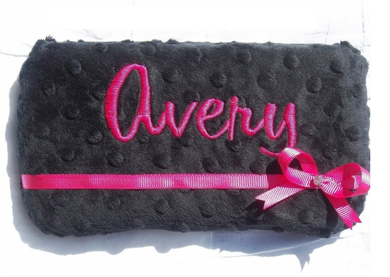 MONOGRAMMED Minky Covered Baby Wipe Case - Your Custom Order
