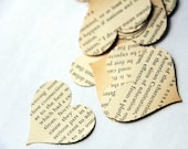 Storytale endings - medium size heart confetti from vintage story books 200 count