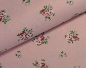 Organic cotton FQ - Pink Floral 'Princess' by Westfalenstoffe 45x75cms SALE!