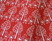 Westfalenstoffe Ducks fabric - Oeko-Tex - White on Red FQ SALE!