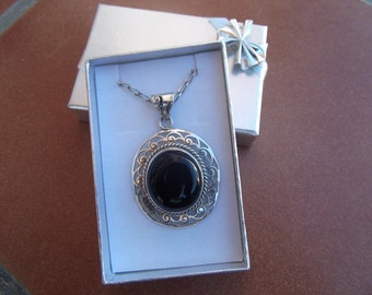 Victorian Sterling Silver Pendant and chain
