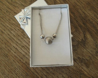 Spanish Sterling Silver Modernistic Necklace.
