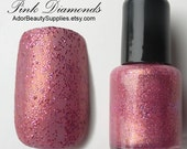 Pink Diamonds Nail Polish 8 ml Vegan Non-Toxic