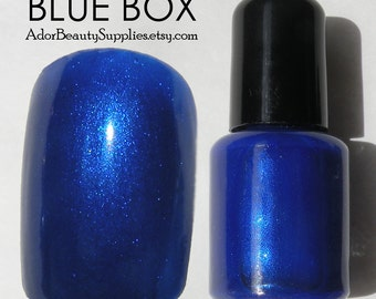 Blue Box Nail Polish 8ml Vegan Non-Toxic - Tardis Blue Nail Polish