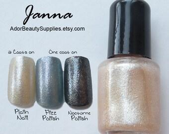 Janna Shimmer Top Coat Nail Lacquer 8ml Vegan Nontoxic - G34