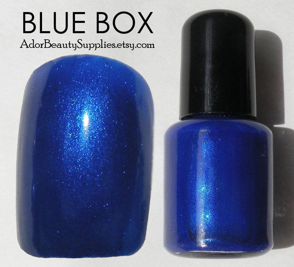 Blue Box Nail Polish 8ml Vegan Non-Toxic Tardis Blue Nail