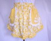 Yellow Ruffled Half Apron W/ Accessories